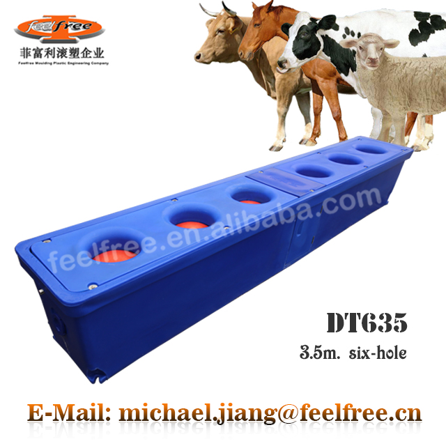 China FEELFREE Manufactured Cattle / Cow Thermo Water Trough with 6 drinking positions for pasture