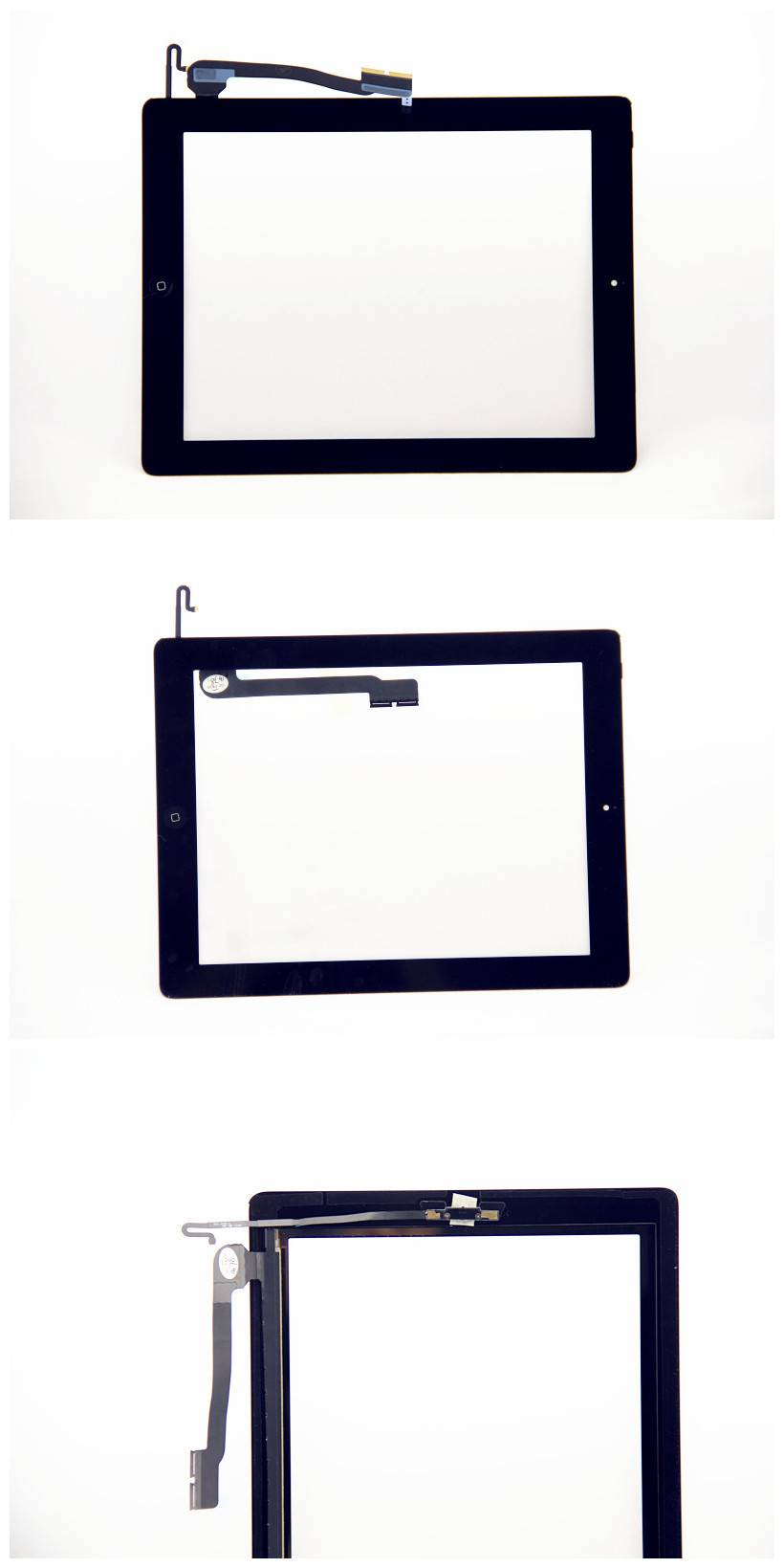 For Apple ipad 4 Touch Half Assembly White/Black Original
