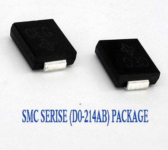 Electronic Parts 1500W 5-188V Do-214AB Case TVS Chip Rectifier Diode SMCJ14A/CA Free Samples