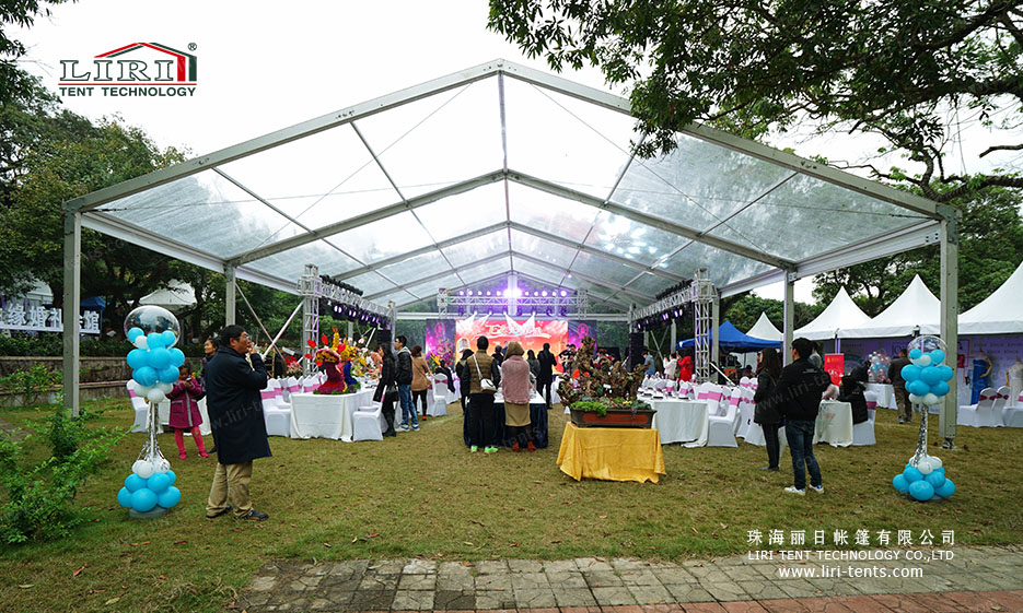300 People Clear Party Tent with Clear Roof Cover for Parties