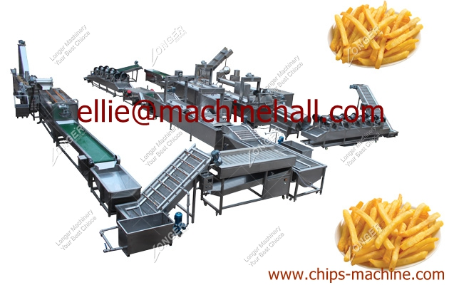 Automatic Frozen French Fries Production Line|French Fries Making Machine