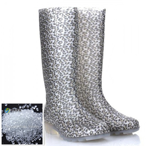 Transparent PVC raw materials for waterproof boots