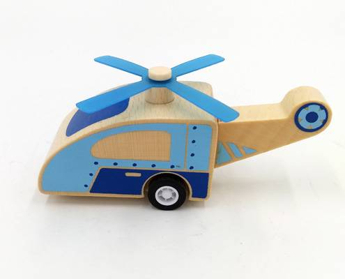 Pull-back helicopter