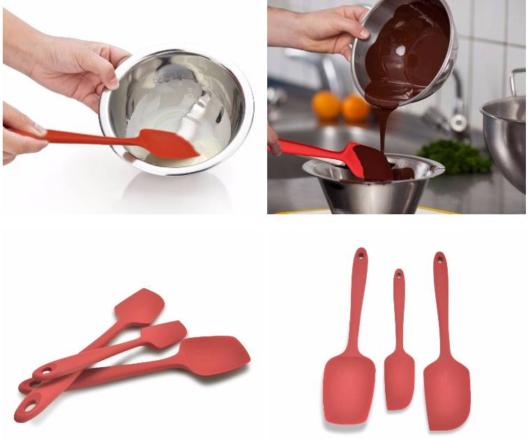 3-pieces silicone spatula set kitchen accessories cookie spatula