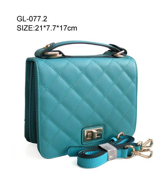 fashion Women's plaid genuine leather handbags