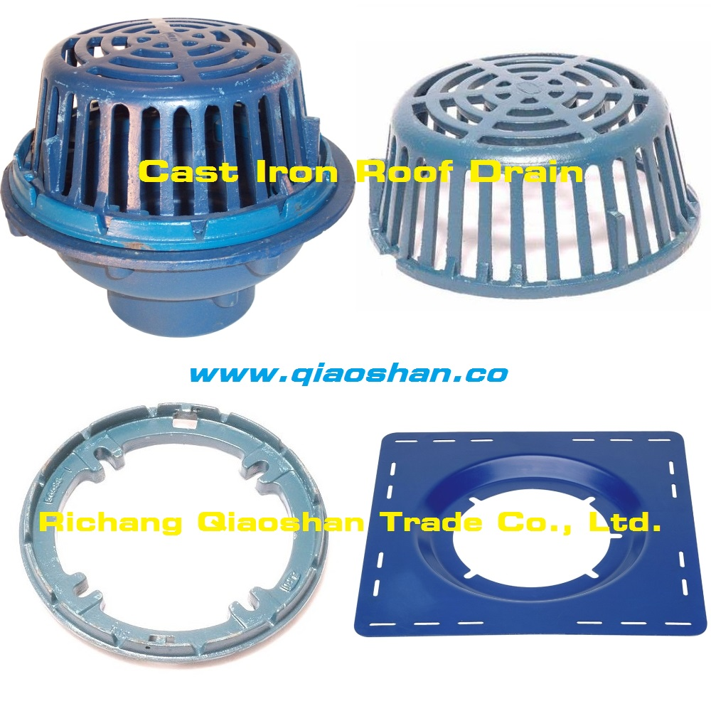 Square Sump Pan Receiver Drain Pan Receiver For Cast Iron Roof Drain