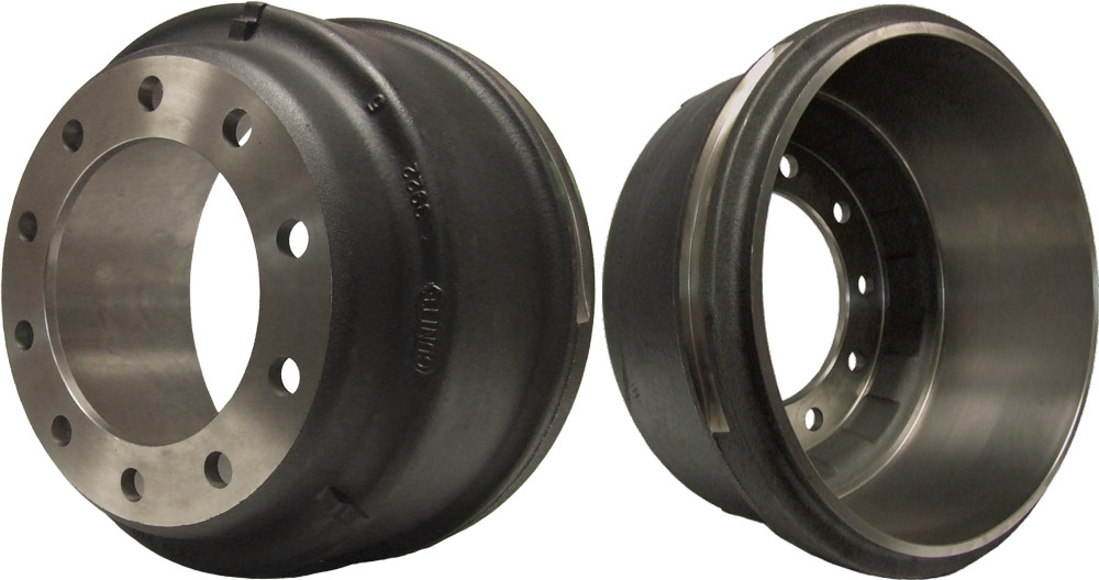 Truck brake drum compatible with Iveco