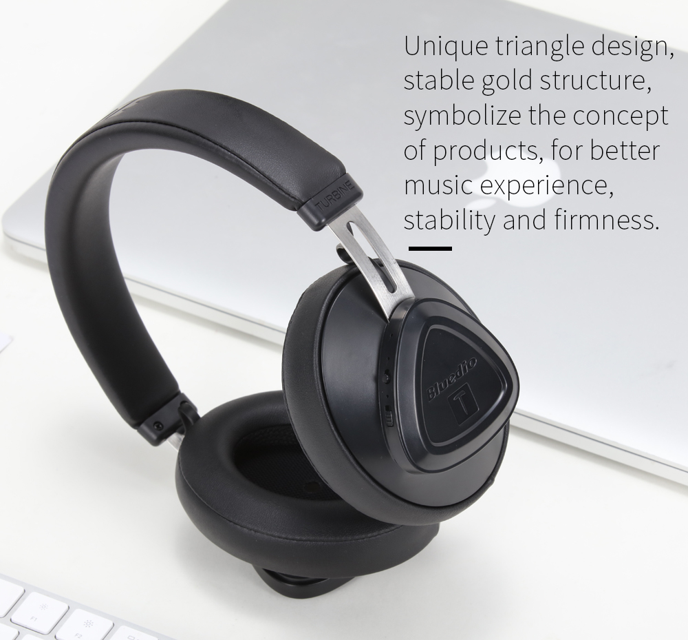 Bluedio TMS Bluetooth Headphones Over Ear, Voice Control Hi-Fi Stereo Wireless Headset with Mic