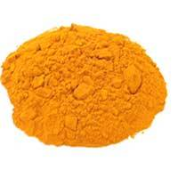 turmeric powder, fingers