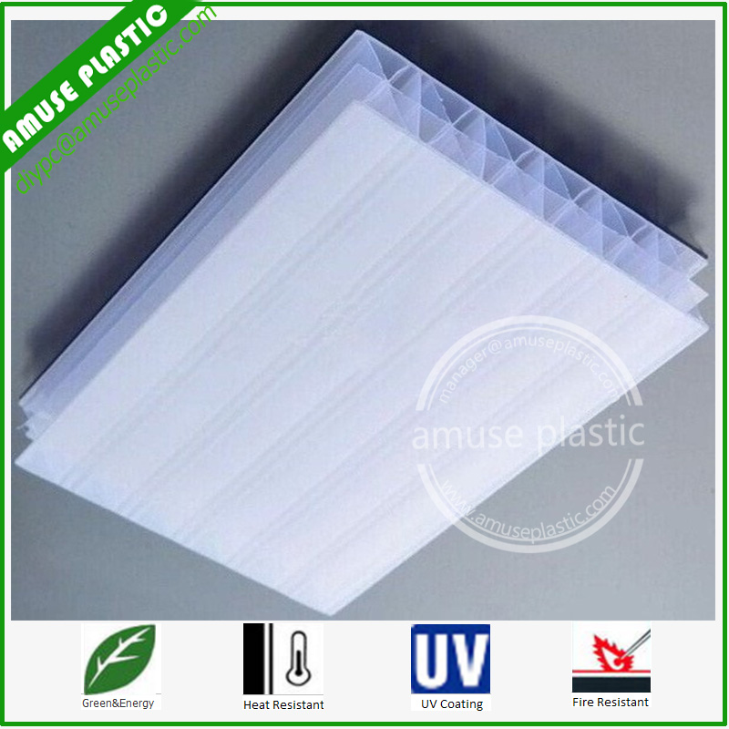 Grade a 20mm Opal White Multiwall Polycarbonate Sheets for Sale