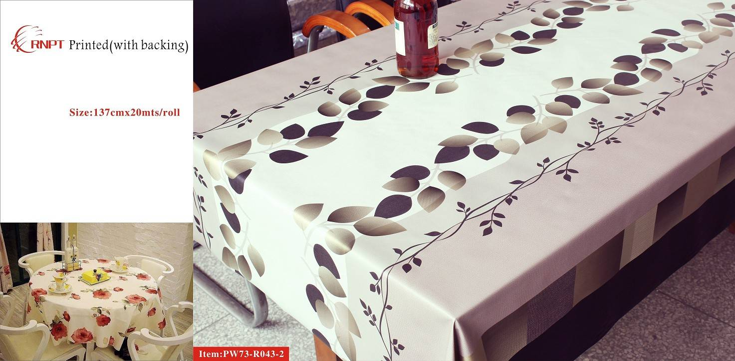 RNPT LUXE 3D PRINTED PVC TABLE CLOTH TC73-R043-2
