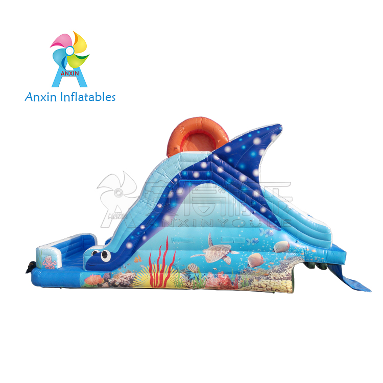 Giant Inflatable tuna water slide for kids and adult work with swimming pool
