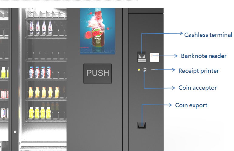 New Combo Snack and Drink and Soda Vending Machine with Coin for Sale