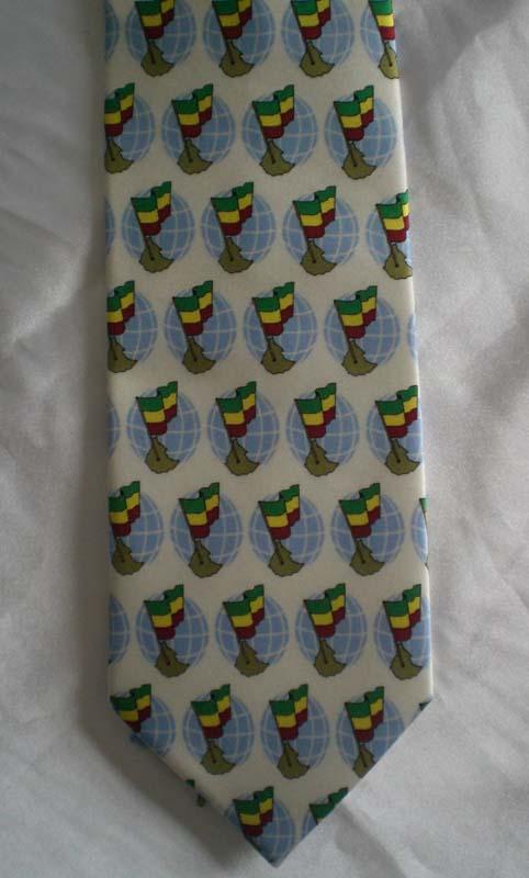 White Printing Necktie