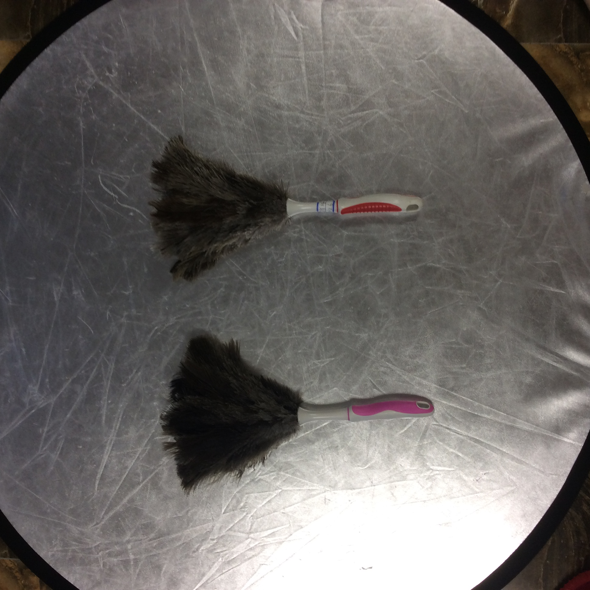 ostrich feather duster with pp handle