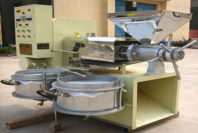 Simple operate coconut copra oil extraction machine