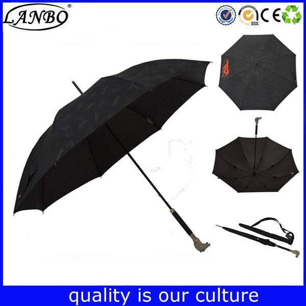 Special straight umbrella with bird handle function umbrella