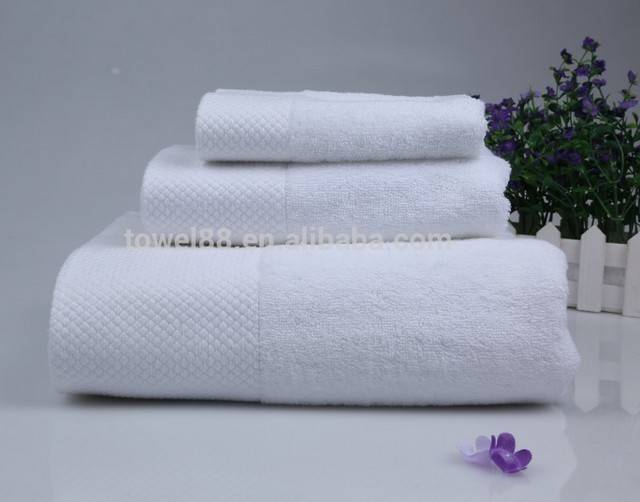 Good quality 100% cotton white hotel bath towel