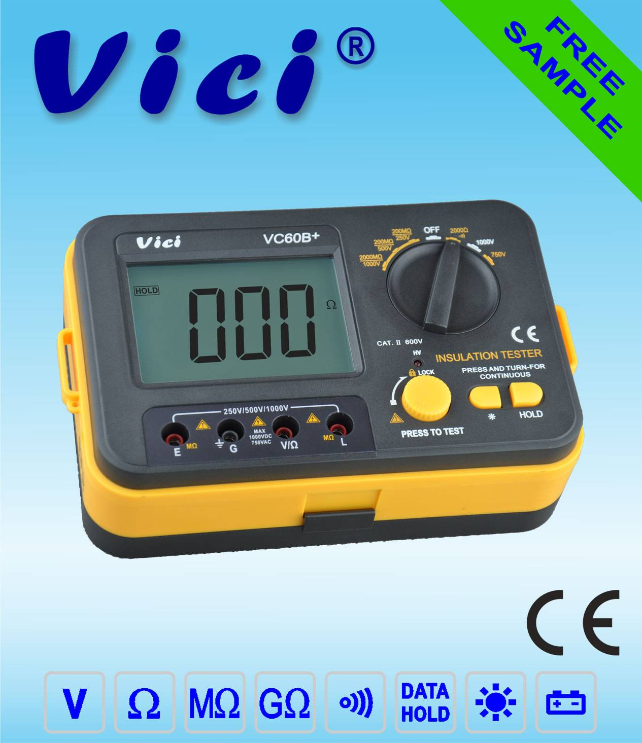 VC60B+  Insulation Tester