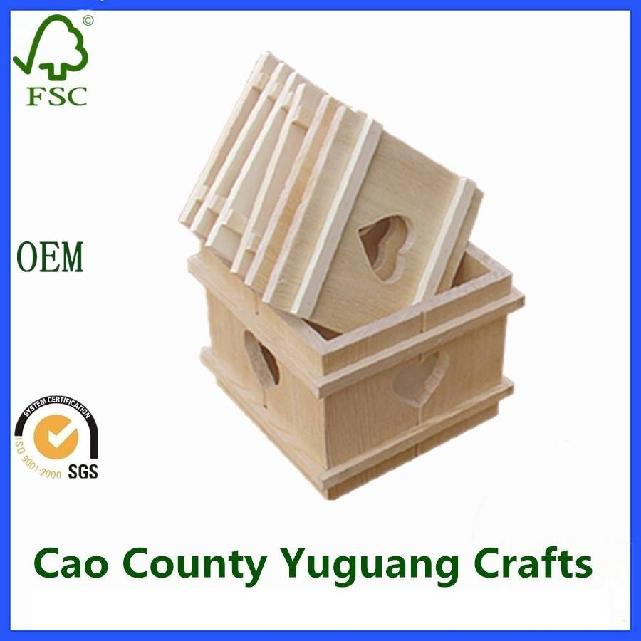 Wooden Crate Box For Home Decoration Fruit Vegetables