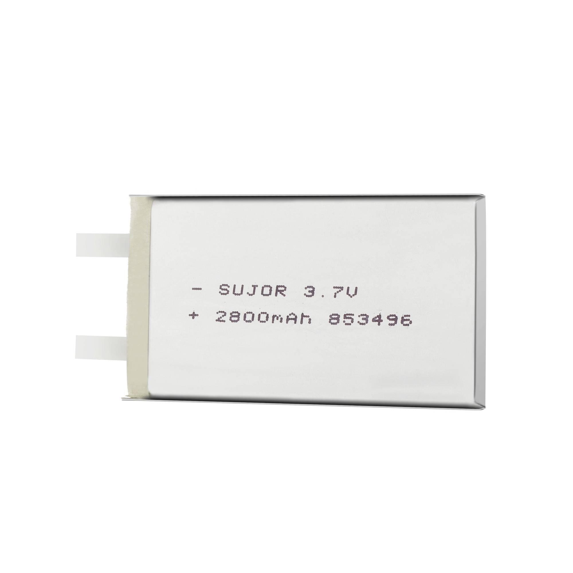 Lithium polymer battery for medical product 3.7V PL853496