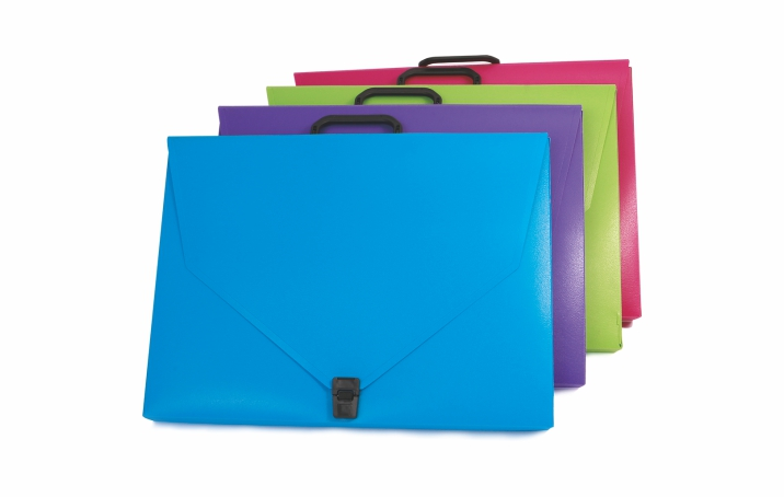 A3, A4, A5 Customized Portfolios with Plastic Handel and Buckle