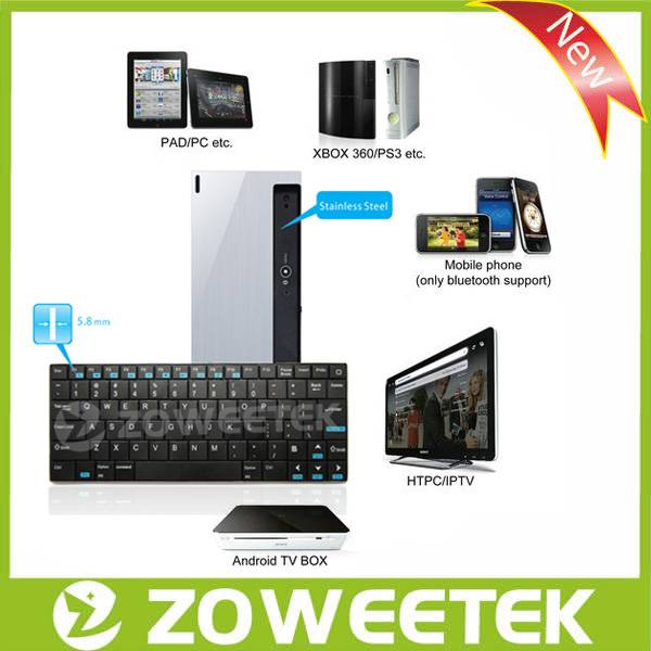 Wireless Bluetooth Keyboard For 7 Inch Tablet PC