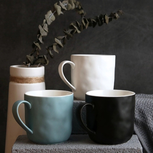 Matte finishe colored mugs