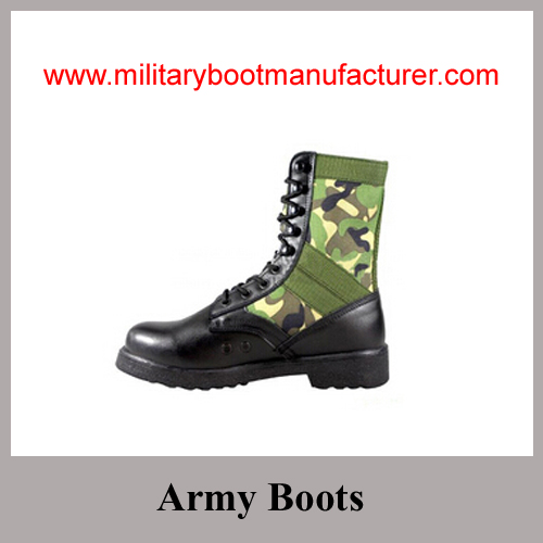 Wholesale China made Camouflage Color Military Jungle Boots