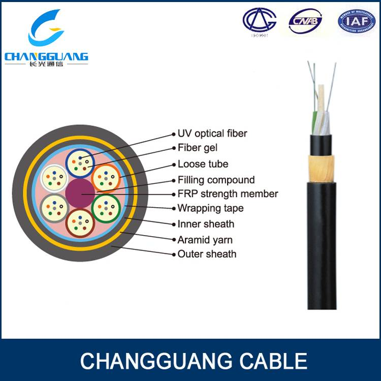 ADSS All Dielectric Self-supporting Aerial Cable 24 48 core fiber optical cable