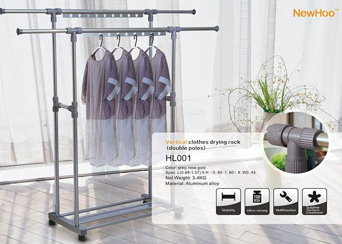 Vertical clothes rack