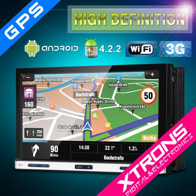 "Xtrons-7"" Android car 4.2.2 Double Din Car DVD Player WIFI Double Din/Android Car DVD Player"