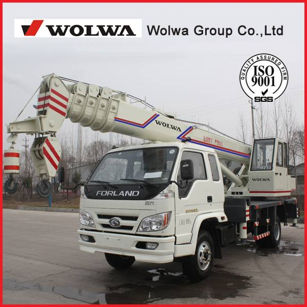 Direct manufacturers 8 ton hydraulic truck crane 360 degrees GNQY-C8