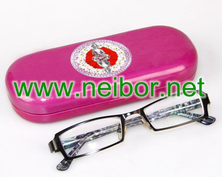 glasses case, glasses box, Sunglass holder, spectacles case, oval tin box