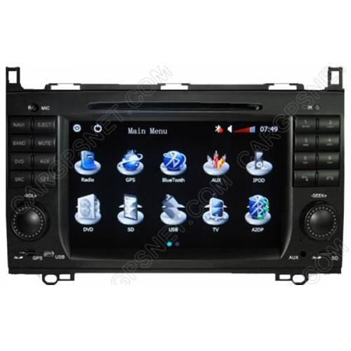 mercedes c class w203 gps navigation dvd radio player head. Black Bedroom Furniture Sets. Home Design Ideas
