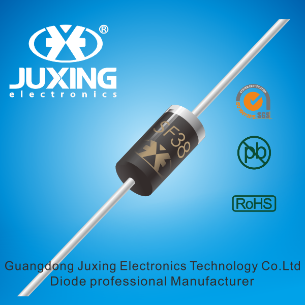 SF38 super fast rectifiers diode packed by DO-27 case