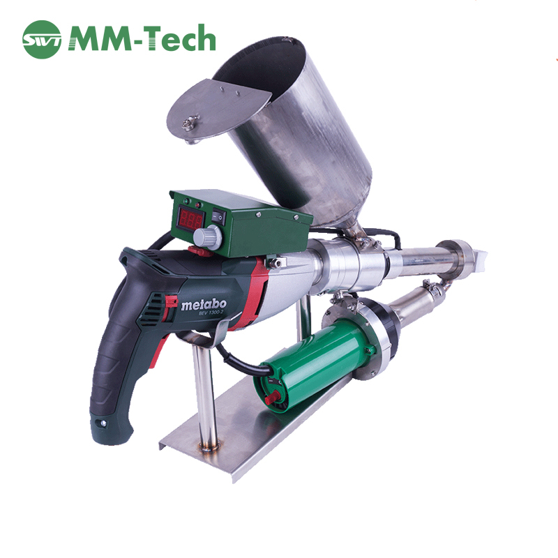 Plastic hand extrusion welder for HDPE membrane PP pipe,Geomembrane extrusion welding machine for ta