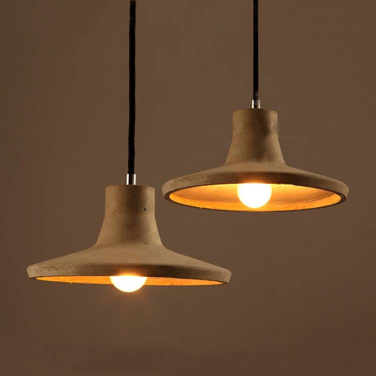 Newest LED pendant light simple hanging high quality cement pendant light with CE, UL certificate