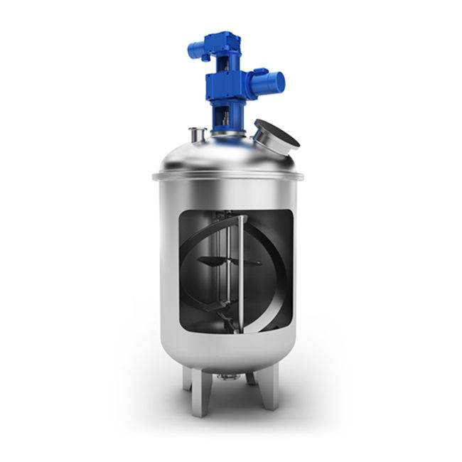 Industrial use top mounted coaxil mixer/agitator