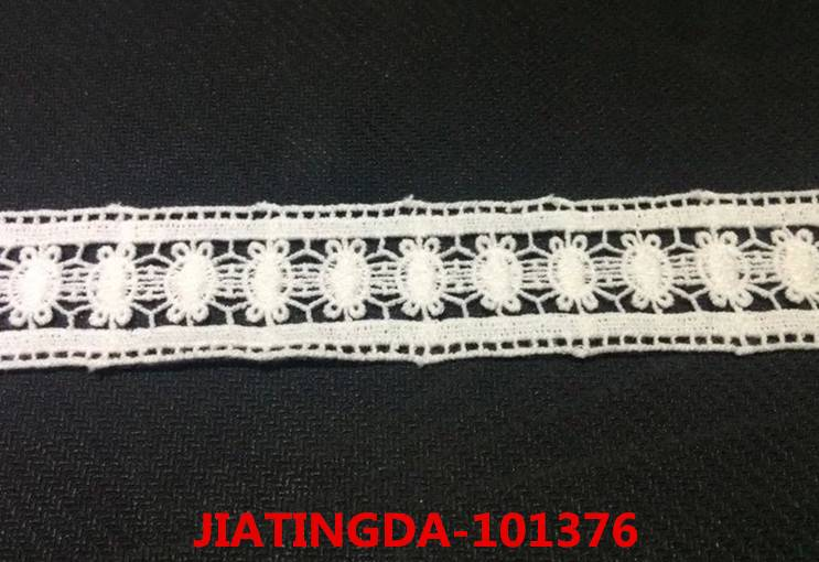A0 101376 water-soluble cotton embroidered lace fabric