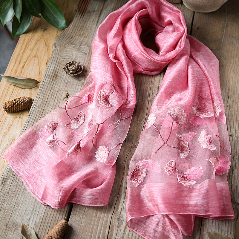China Factory Wholesale Export 100% Silk Scarves, Wraps, Shawls