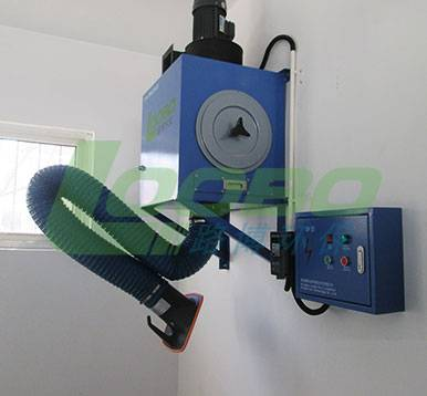 Wall mounted welding fume extractor and gas dust purifier for welding workshop