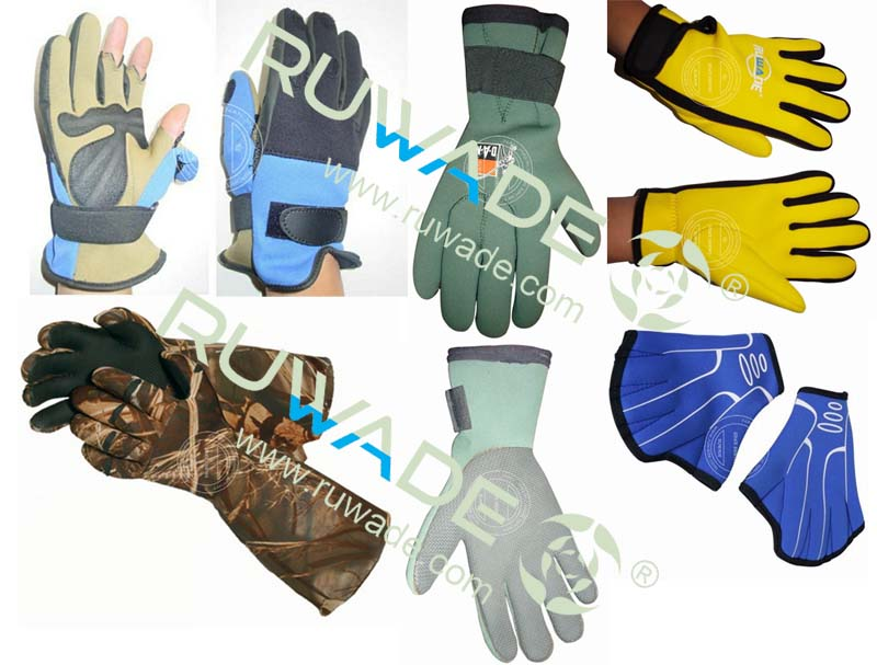 neoprene gloves for different use,such as diving,fishing,swimming hunting