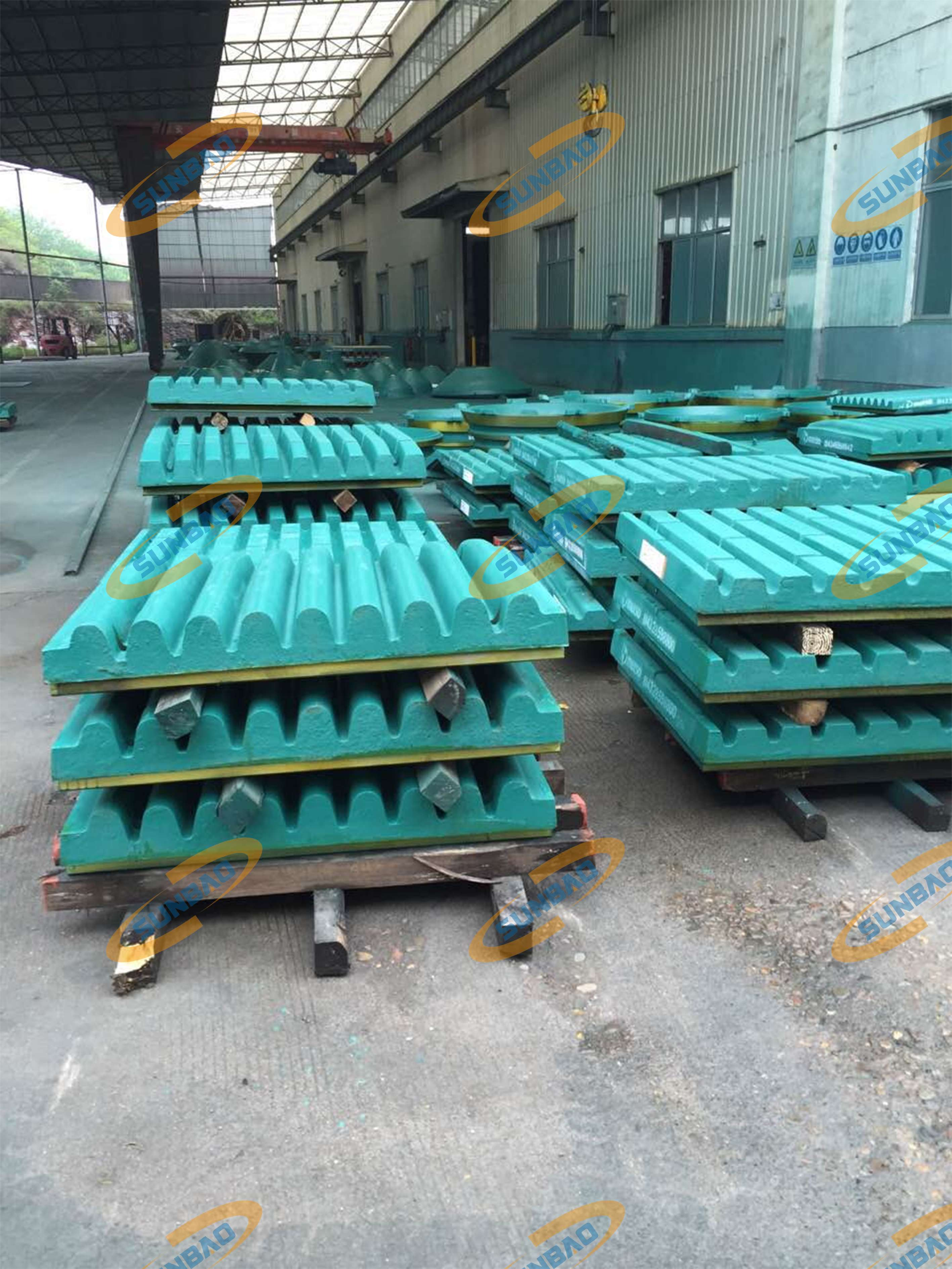 casting fixed jaw plate for jaw crusher