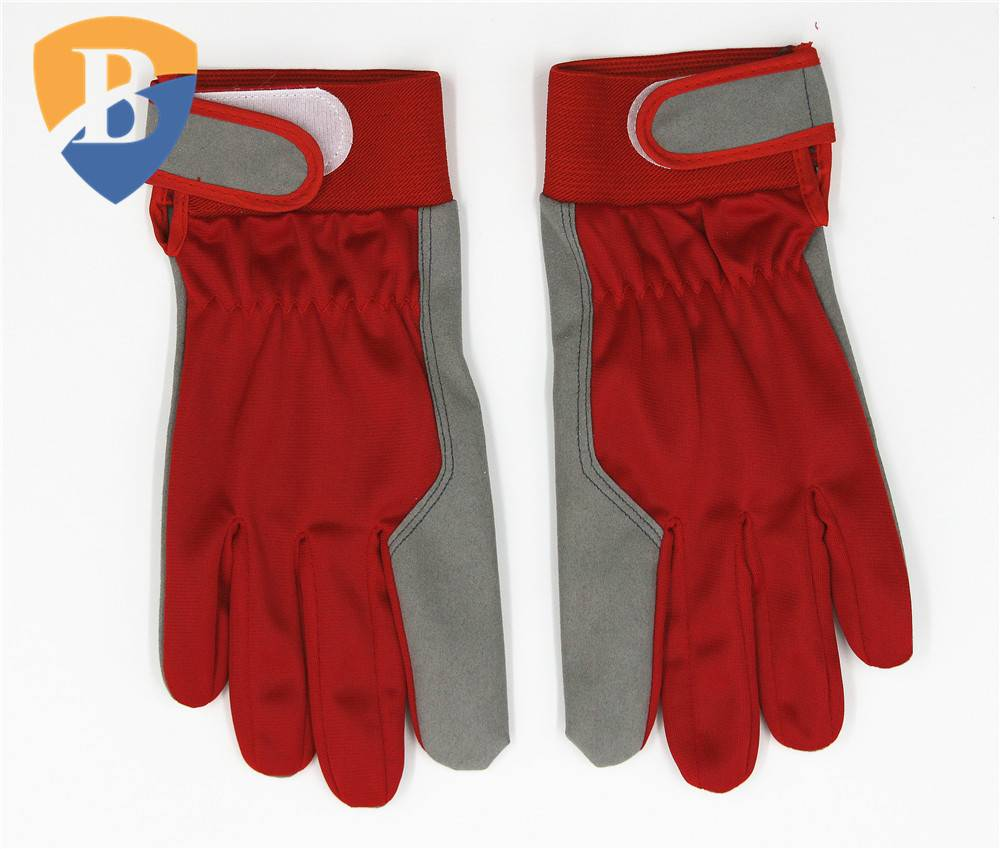 Hot sale synthetic leather working glove with elastic cuff