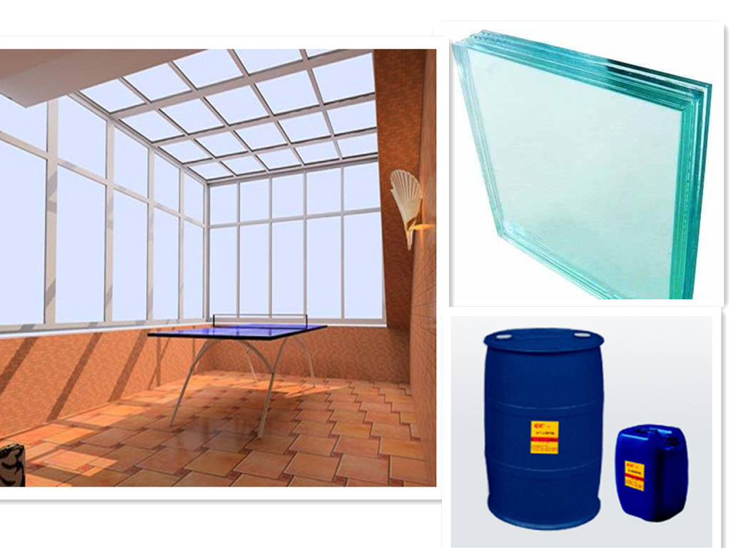SAOSA sunlight cured resin laminated glass for bomb & blast resistance