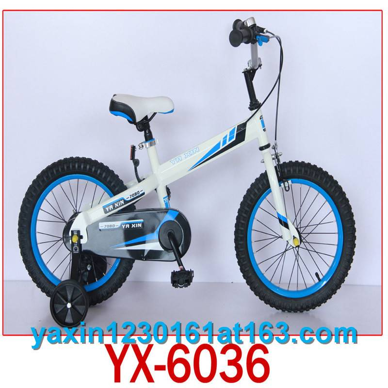 Newest shape kid bicycle with training wheel