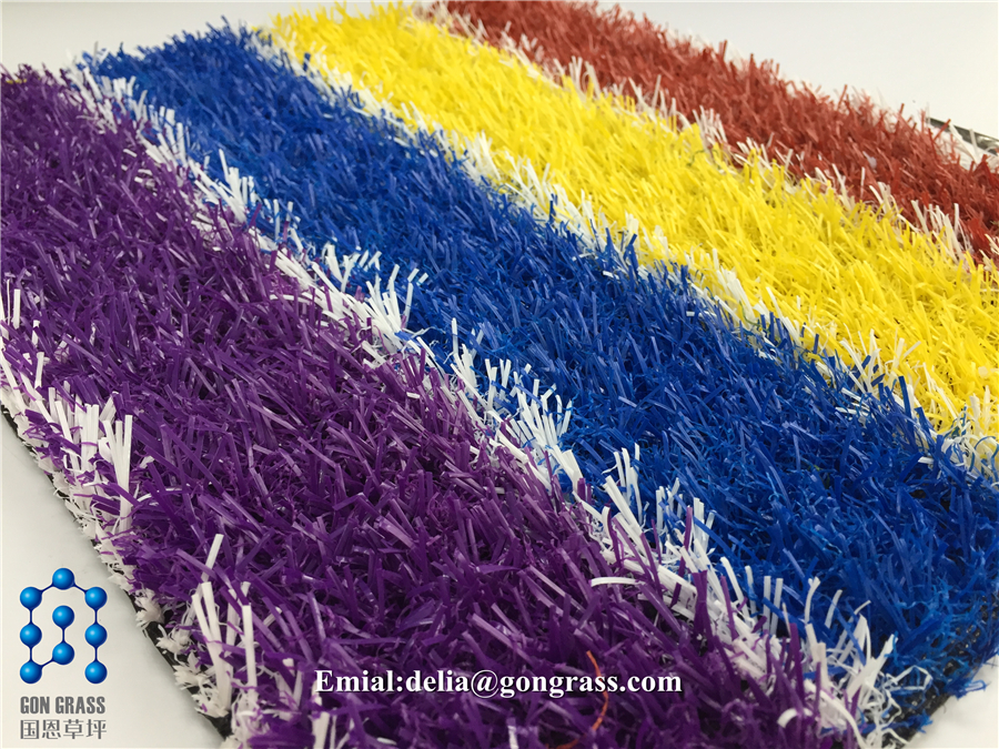 Synthetic grass , colorful grass for school , red grass