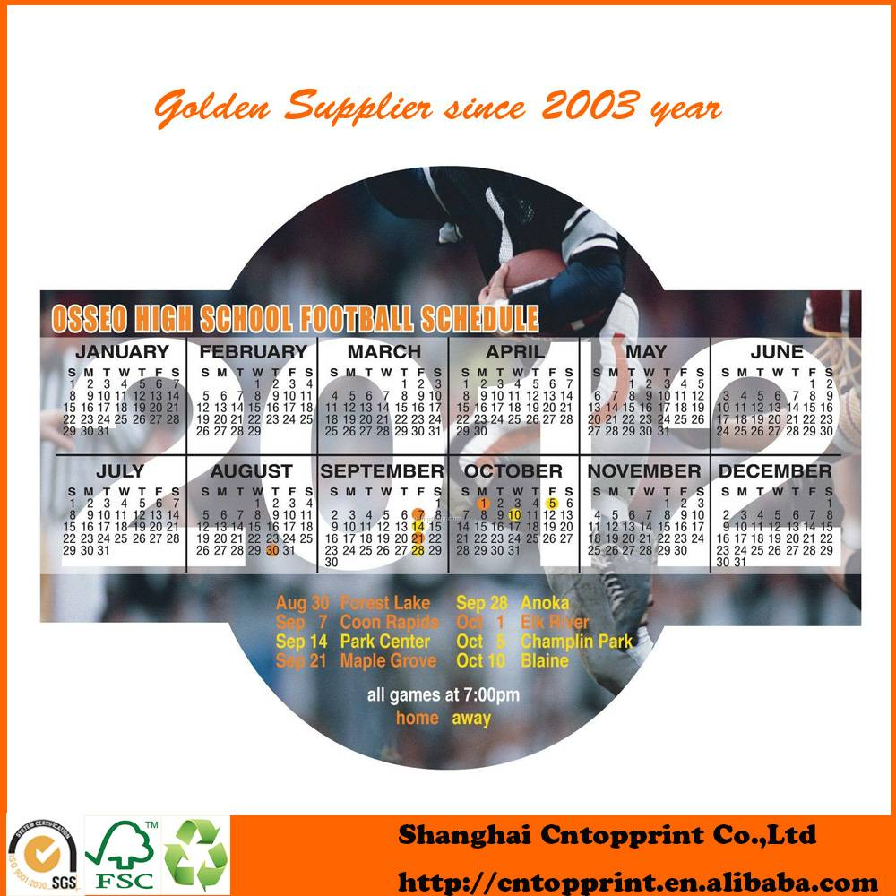 250gsm Artpaper Die Cut Calendar School Fridge Magnets