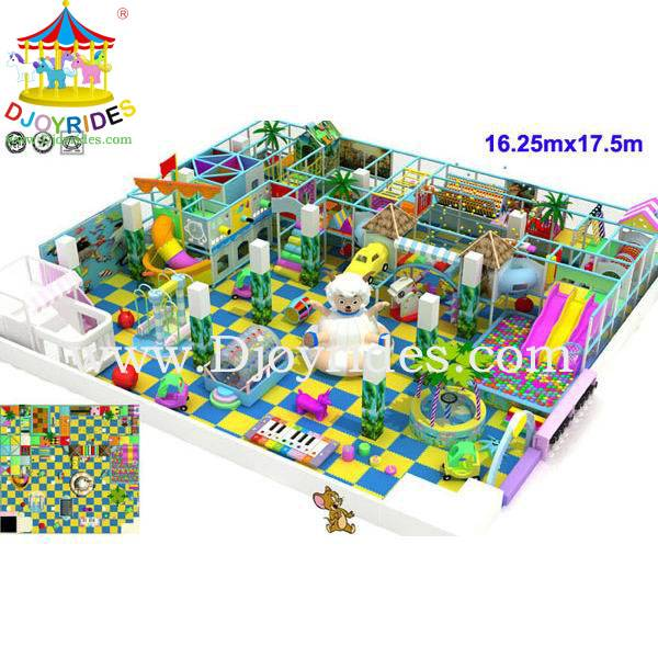 Indoor Playground Equipment for sale 16.25mx17.5m